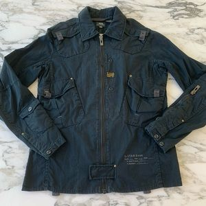 G-Star Raw Black Zip Front Utility Jacket